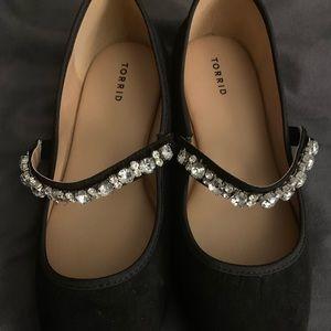 Torrid black sparkle flats 11w